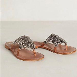 Anthro Jasper & Jeera Starlight beaded sandal sz 9
